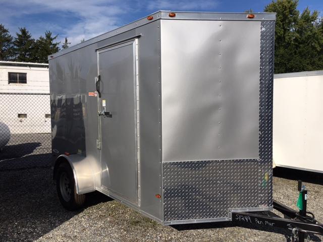 Silver 6 x 10 Freedom Enclosed Cargo Trailer