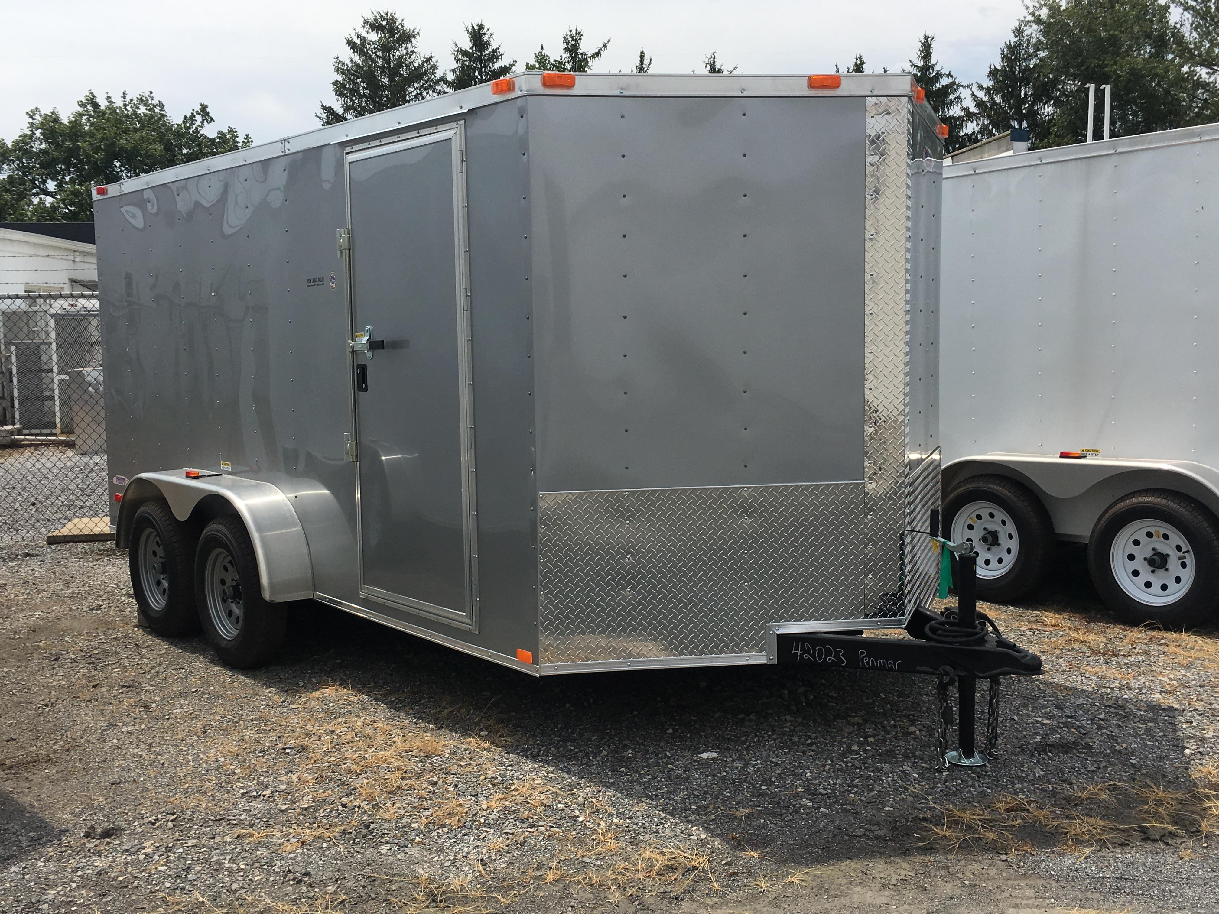 Silver 7 x 14 Freedom Enclosed Cargo Trailer