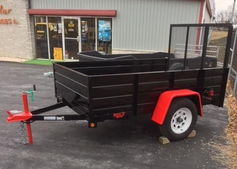 5x10 Tub Red & Black