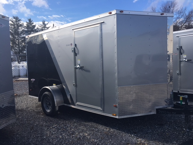 Silver and Black 7 x 12 Freedom Enclosed Cargo Trailer