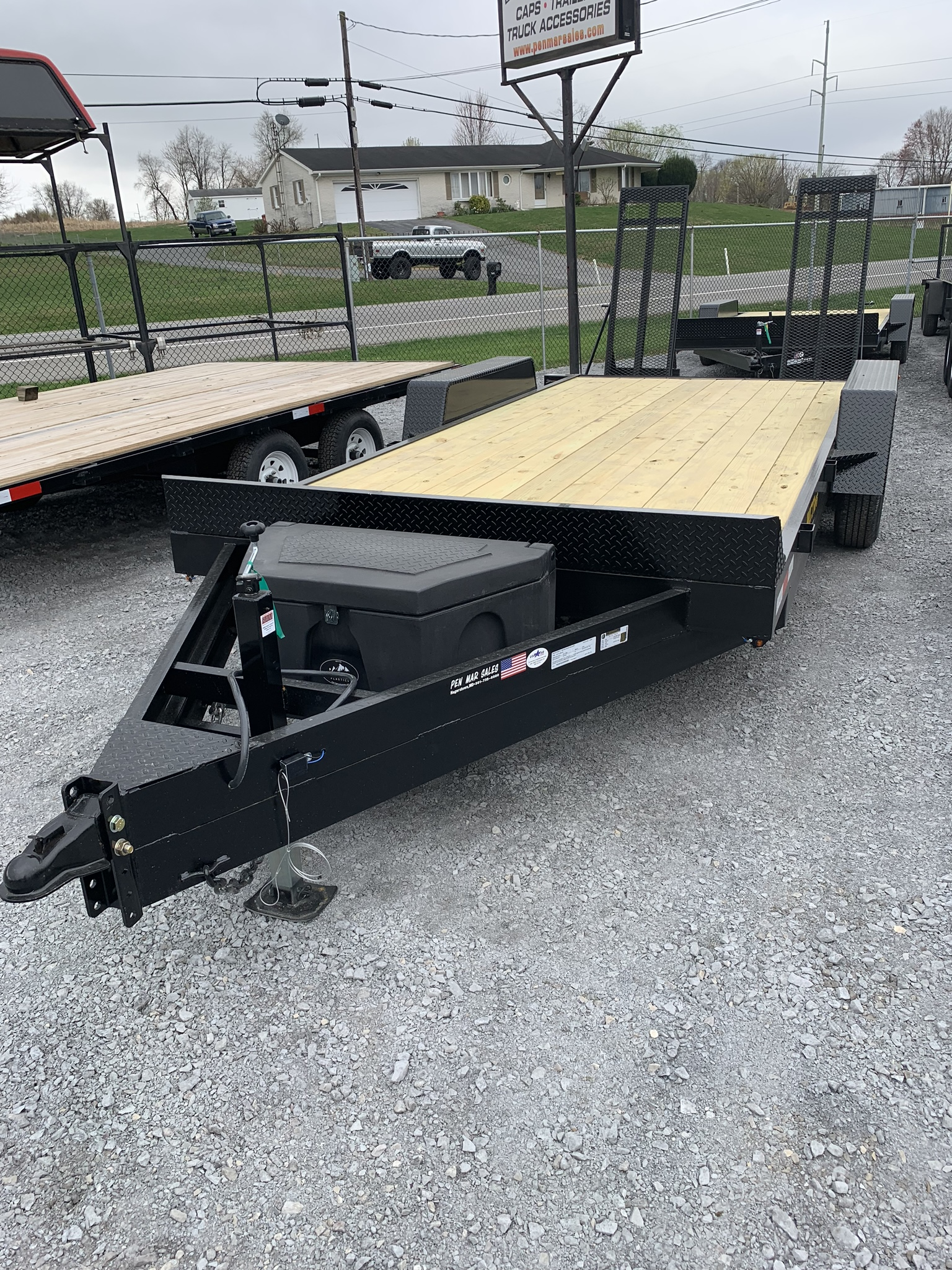"102"" x 18' Construction Mentzer Custom Trailer"